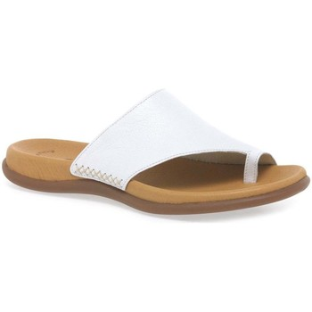 Shoes Women Flip flops Gabor Lanzarote Toe Loop Womens Mules white