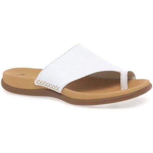 Shoes Women Flip flops Gabor Lanzarote Toe Loop Womens Mules white