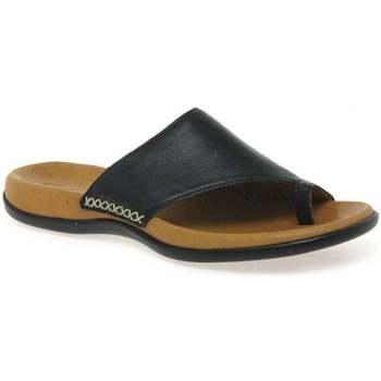 Shoes Women Flip flops Gabor Lanzarote Toe Loop Womens Mules black