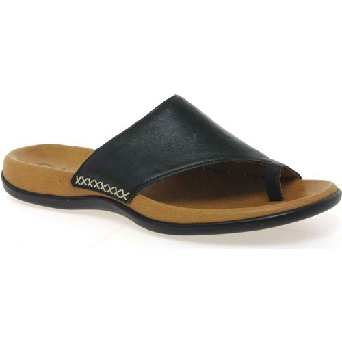 Shoes Women Flip flops Gabor Lanzarote Toe Loop Womens Mules black