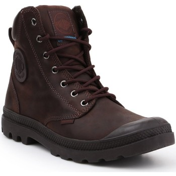 Shoes Hi top trainers Palladium Pampa Cuff WP LUX 73231-249-M brown