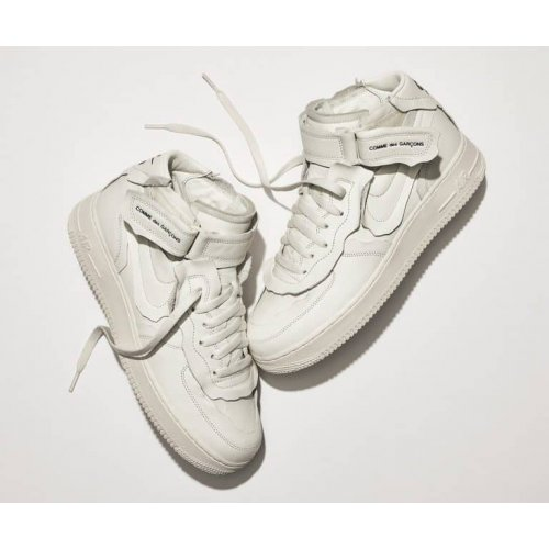 Shoes Low top trainers Nike Air Force 1 high x Comme des Garçons WHITE/WHITE-BLACK WHITE