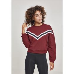 Clothing Women Sweaters Urban Classics T-shirt femme Urban Classic inet Striped crew rouge
