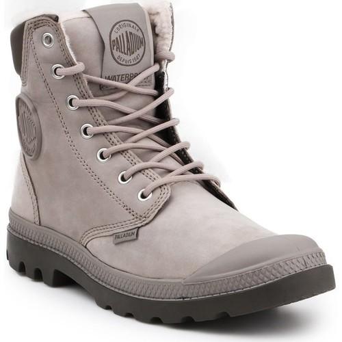 Shoes Hi top trainers Palladium Manufacture Pampa Sport Cuff WPS 72992-070-M grey