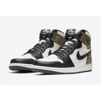 Shoes Multisport shoes Nike Jordan 1 Dark Mocha Sail / Dark Mocha – Black – Black