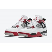 Shoes Low top trainers Nike Jordan 4 Tech Red White/Fire Red/Black/Tech Grey