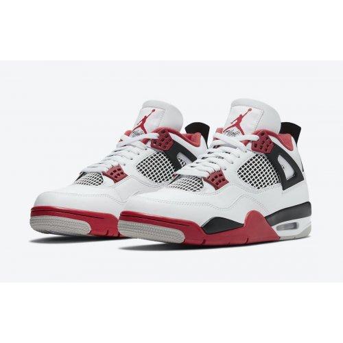 Shoes Low top trainers Nike Jordan 4 Tech Red White/Fire Red/Black/Tech Grey