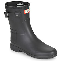 Shoes Women Wellington boots Hunter ORIGINAL REFINED SHORT Black