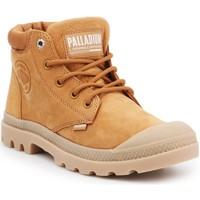 Shoes Women Hi top trainers Palladium Pampa LO Cuff LEA 95561-717-M brown