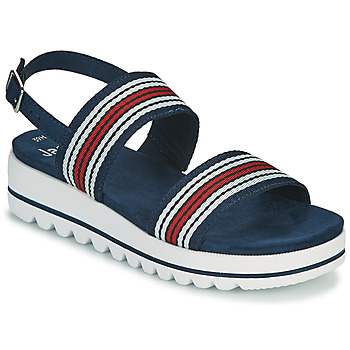 Shoes Women Sandals Jana STROMAELA Marine / Red / White