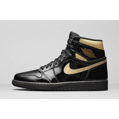 Shoes Hi top trainers Nike Jordan 1 Black Metallic Gold Black/Black-Metallic Gold