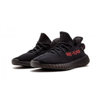 Shoes Low top trainers adidas Originals Yeezy Boost V2 Bred Core Black/Core Black-Red