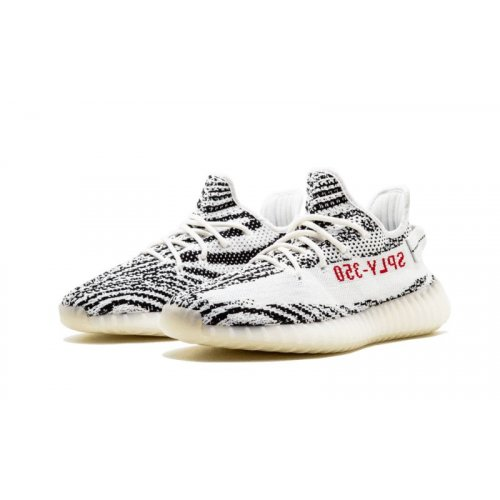 Shoes Low top trainers adidas Originals Yeezy Boost 350 V2 Zebra Ftwr White/Core Black/Red