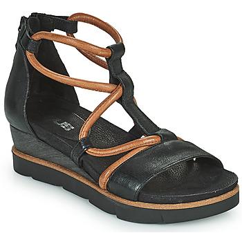 Shoes Women Sandals Mjus TAPASITA Black / Camel