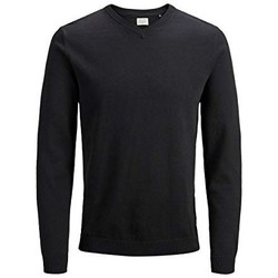 Clothing Men Jumpers Jack & Jones Jjebasic Knit 12137194 Black