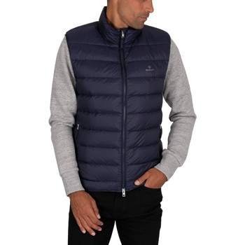 Clothing Men Duffel coats Gant Light Down Gilet blue