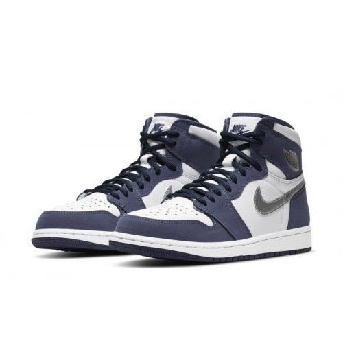 Shoes Multisport shoes Nike Air Jordan 1 Og JP Midnight  White/Midnight Navy-Metallic Silver