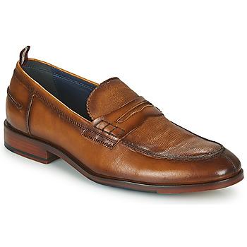 Shoes Men Loafers Azzaro NORDEN Cognac
