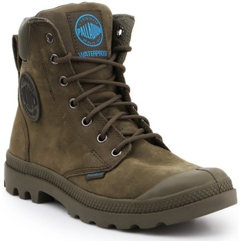 Shoes Hi top trainers Palladium Pampa Cuff WP LUX 73231309 olive green