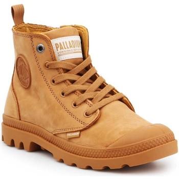 Shoes Women Hi top trainers Palladium Pampa HI ZIP NBK 96440-717-M brown