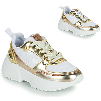Shoes Girl Low top trainers MICHAEL Michael Kors COSMO SPORT White / Gold