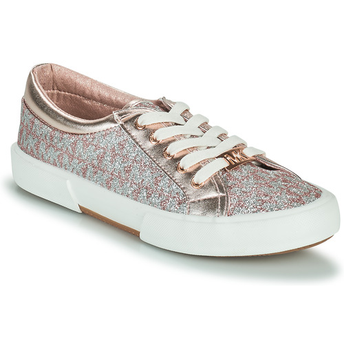 Shoes Girl Low top trainers MICHAEL Michael Kors IMA TINSEL Pink / Gold / Silver