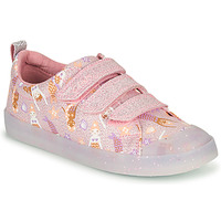 Shoes Girl Low top trainers Clarks FOXING PRINT T Pink