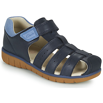 Shoes Children Sandals Clarks ROAM BAY K Marine