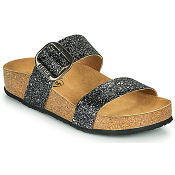 Shoes Women Mules Plakton ROCK Black / Glitter
