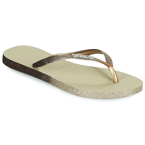 Shoes Women Flip flops Havaianas SLIM SPARKLE II Beige