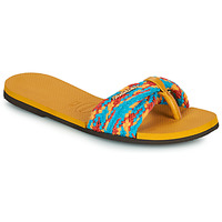 Shoes Women Sandals Havaianas YOU ST TROPEZ MESH Yellow / Blue