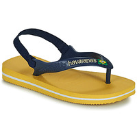 Shoes Children Flip flops Havaianas BRASIL LOGO II BABY Blue / Yellow
