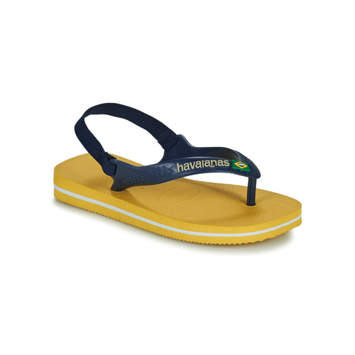Shoes Children Flip flops Havaianas BRASIL LOGO II BABY Blue / Yellow