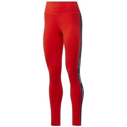 Clothing Women Leggings Reebok Sport TE Linear Logo CT L Red