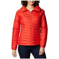 Clothing Women Duffel coats Columbia WM Powder Lite Hooded Jacket Red