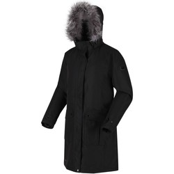 Clothing Women Parkas Regatta Lumexia III Waterproof Parka Black Black