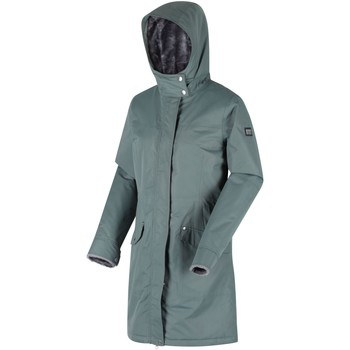 Clothing Women Parkas Regatta Rimona Waterproof Insulated Hooded Parka Jacket Green Green