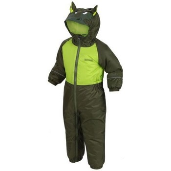 Clothing Children Jumpsuits / Dungarees Regatta Kids' Mudplay III Breathable Waterproof Puddle Suit Green