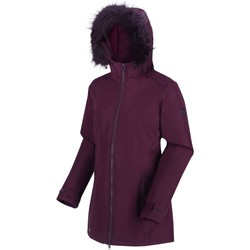Clothing Women Parkas Regatta Myla Waterproof Insulated Jacket Navy Red Red