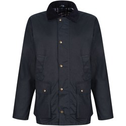 Clothing Men Coats Professional BANBURY Wax Jacket Dark Khaki Blue Blue