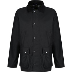 Clothing Men Coats Professional BANBURY Wax Jacket Dark Khaki Black Black