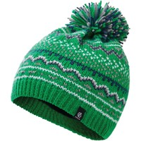 Clothes accessories Children Hats / Beanies / Bobble hats Dare 2b Boys' Buzzer Fleece Lined Knit Bobble Beanie Green