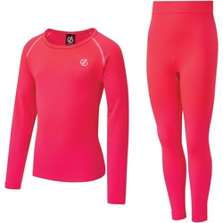 Clothing Girl Tracksuits Dare 2b Kids' In The Zone Base Layer Set Pink