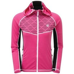 Clothing Women Track tops Dare 2b Pensive Wool Full Zip Hooded Stretch Midlayer Pink Pink