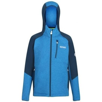 Clothing Children Fleeces Regatta Kids' Lostock Coolweave Full Zip Hooded Walking Fleece Blue