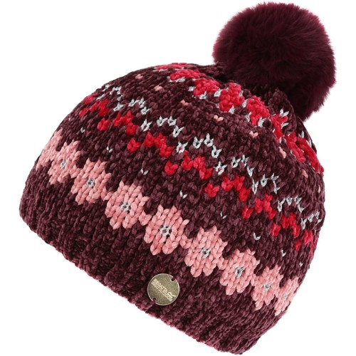 Clothes accessories Children Hats / Beanies / Bobble hats Regatta Kids' Hedy Lux III Fleece Lined Knitted Bobble Hat Purple