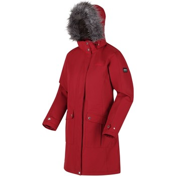 Clothing Women Parkas Regatta Lumexia III Waterproof Insulated Hooded Parka Jacket Red Red