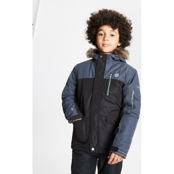 Clothing Children Parkas Dare 2b Boys' Furtive Fur Trimmed Ski Jacket Black