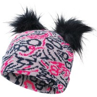 Clothes accessories Children Hats / Beanies / Bobble hats Dare 2b Girls' Genius Cable Knit Faux Fur Bobble Beanie Pink