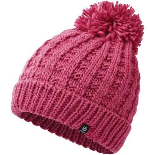 Clothes accessories Women Hats / Beanies / Bobble hats Dare 2b Convoke Bobble Hat Fiery Coral Pink Pink